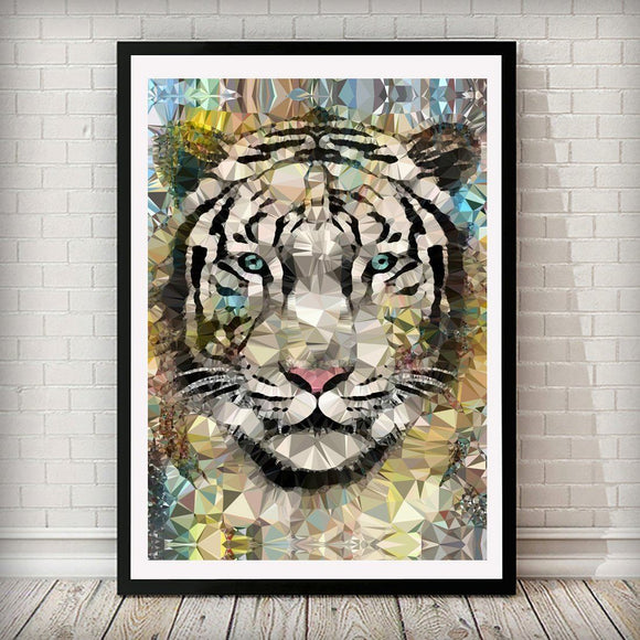 Abstract Tiger Animal Art Print - Rock Salt Prints Ltd