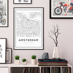 Amsterdam City Map Art Print - Rock Salt Prints Ltd