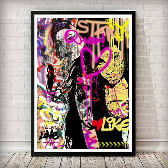 Amy Winehouse Pop Graffiti Art Print
