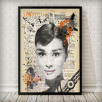 Audrey Hepburn Vintage Poster Art Print - Rock Salt Prints Ltd