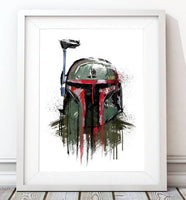Dripping Star Wars Poster, Boba Fett Art Print - Rock Salt Prints Ltd