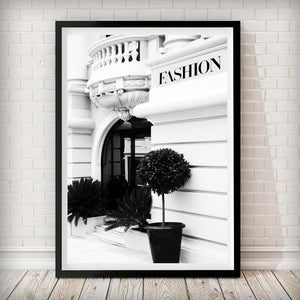 Fashion House Shop front - Fashion Photography Poster - Rock Salt Prints Ltd