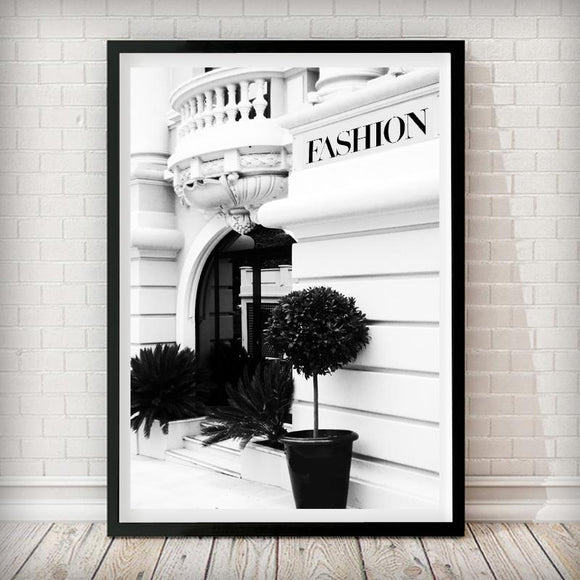 Fashion House Shop front - Fashion Photography Poster - Rock Salt Prints