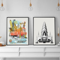 Bangkok Retro City Print - Rock Salt Prints Ltd