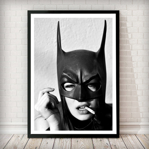 Bat Woman - Fashion Photography Poster - Rock Salt Prints Ltd