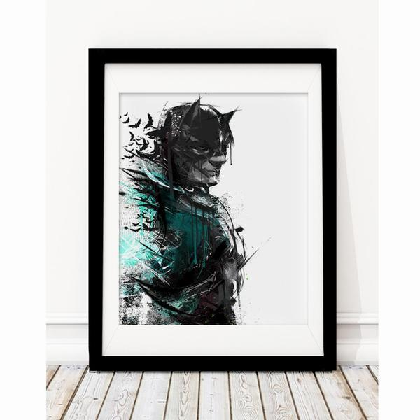 Batman Inspired Art Print - Rock Salt Prints