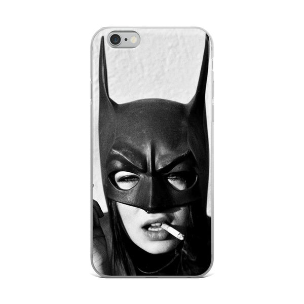 Bat Woman iPhone Case - Rock Salt Prints Ltd