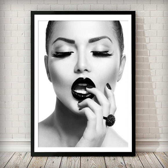 Beauty Photography Black and White Fashion Art Print - Rock Salt Prints
