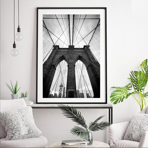 Brooklyn Bridge in New York City Art Print - Rock Salt Prints Ltd