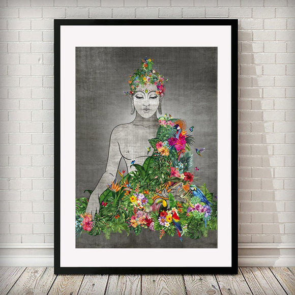 Buddha Nature Animal Home Art Print - Rock Salt Prints Ltd