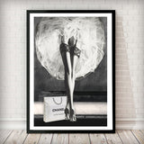 Dancer in Suspenders - Fashion Photography Poster - Rock Salt Prints Ltd