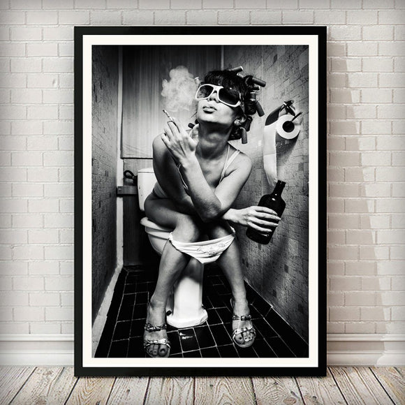 Cloak Room Smoke 001 Black and White Art Print - Rock Salt Prints Ltd