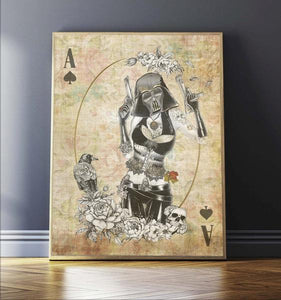 Poker Force Collection - Darth Vader - Star Wars Inspired Art Print - Rock Salt Prints Ltd