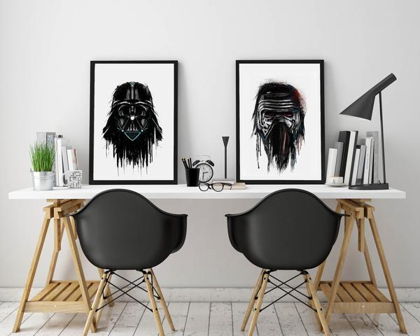 Dripping Star Wars Poster, Kylo Ren Art Print | Unique and ...