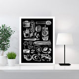 Detox Time Black and White Home Decor Art Print - Rock Salt Prints Ltd