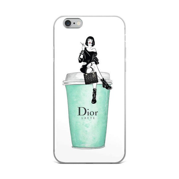 Dior Latte - Lady Sitting - iPhone Case - Rock Salt Prints Ltd
