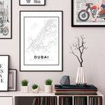 Dubai City Map Art Print - Rock Salt Prints Ltd