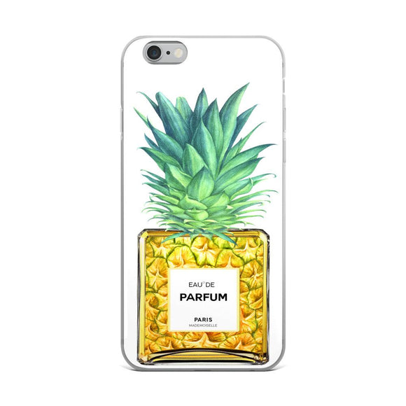 Pineapple Perfume Bottle White iPhone Case - Rock Salt Prints Ltd