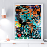 Elvis Graffiti Art Print - Rock Salt Prints