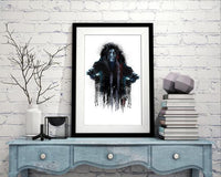 Dripping Star Wars Poster, Emperor Art Print - Rock Salt Prints