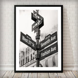 Fashion Avenue Art Print - Rock Salt Prints Ltd