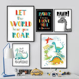 I am a Dinosaur Nursery Art Print - Rock Salt Prints Ltd