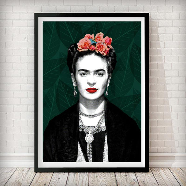 Frida Kahlo Pop Art  - Fashion Photography Poster - Rock Salt Prints Ltd