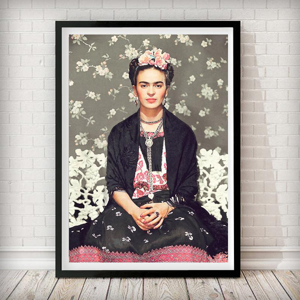 Frida Kahlo Vogue Cover - Fashion Photography Poster - Rock Salt Prints