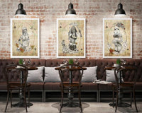 Poker Force Collection - Boba Fett - Star Wars Inspired Art Print - Rock Salt Prints Ltd
