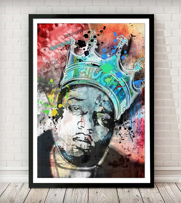 Biggie Pop Graffiti Art Print - Rock Salt Prints