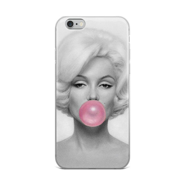 Marilyn Monroe Bubble Gum iPhone Case - Rock Salt Prints Ltd