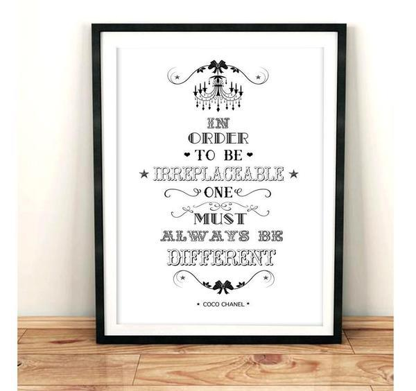In Order To be Irreplaceable - White Typography Art Print - Rock Salt Prints Ltd