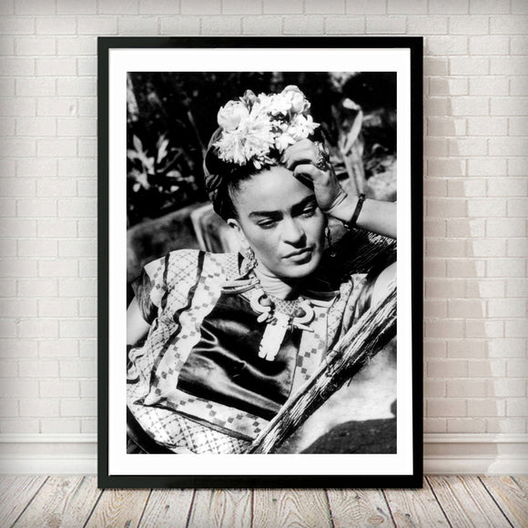 Frida Kahlo - Fashion Photography Poster - Rock Salt Prints