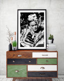Frida Kahlo - Fashion Photography Poster - Rock Salt Prints Ltd