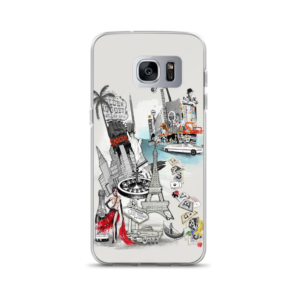 Las Vegas Retro City Samsung Phone Case - Rock Salt Prints Ltd