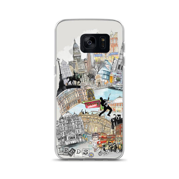 Leeds Retro City Samsung Phone Case - Rock Salt Prints Ltd