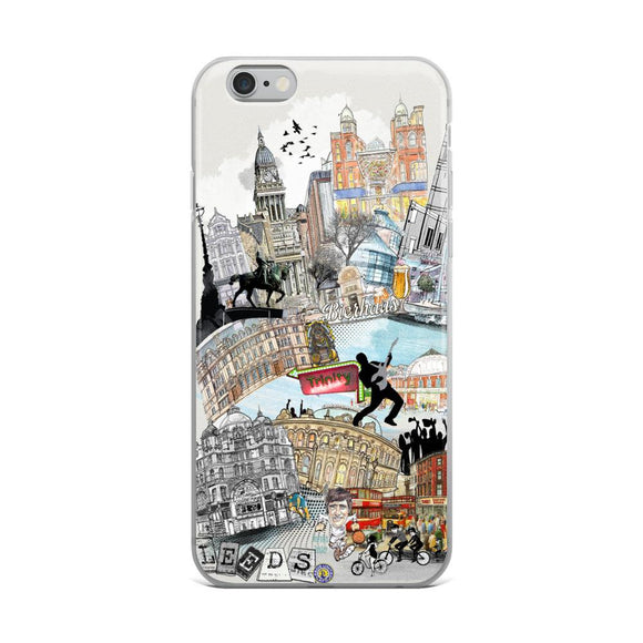 Leeds Retro City iPhone Case - Rock Salt Prints Ltd