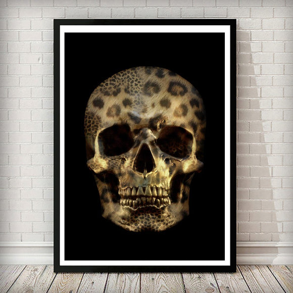 Leopard Fashion Skull POP Art Print - Rock Salt Prints