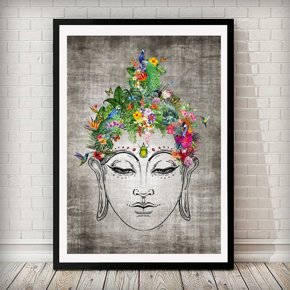 Life on Buddha Nature Animal Home Art Print - Rock Salt Prints Ltd
