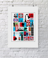 London Mosaic City Print - Rock Salt Prints Ltd