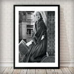 Lady with suitcase Fashion Poster Art Print - Rock Salt Prints Ltd