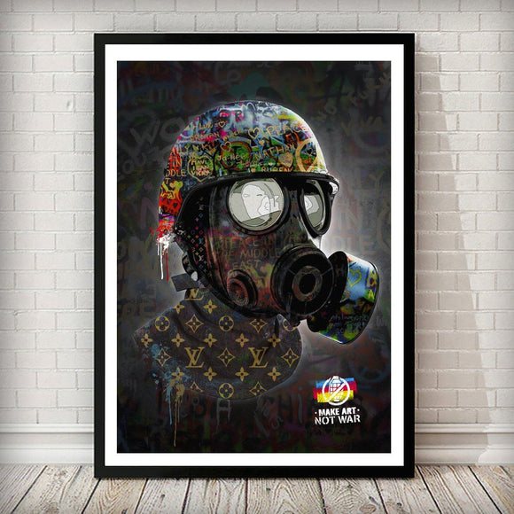Make Art Not War Pop Graffiti Art Print - Rock Salt Prints Ltd