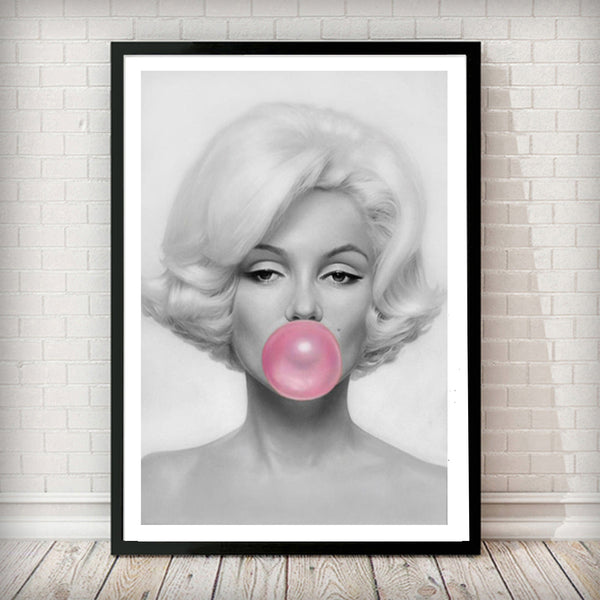 Marilyn Monroe Bubble Gum - Fashion Photography Poster - Rock Salt Prints Ltd