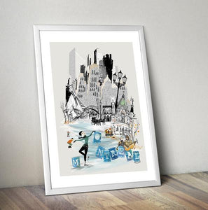 Montreal Retro City Print - Rock Salt Prints