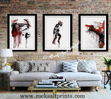 Dripping Star Wars Poster, Moonwalker Art Print - Rock Salt Prints Ltd