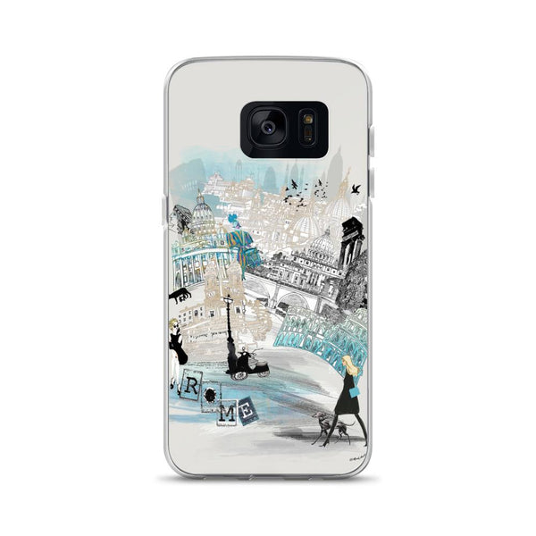 Rome Retro City Samsung Phone Case - Rock Salt Prints Ltd