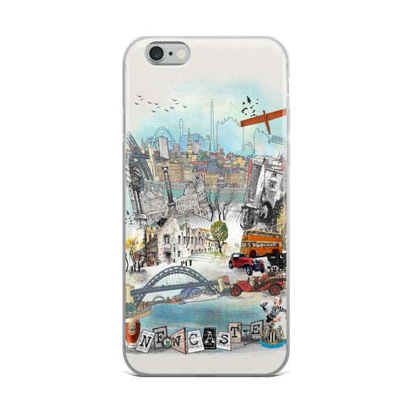 Newcastle Retro City iPhone Case - Rock Salt Prints Ltd