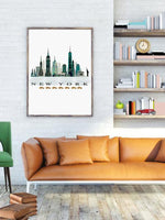 New York Classic City Print - Rock Salt Prints Ltd