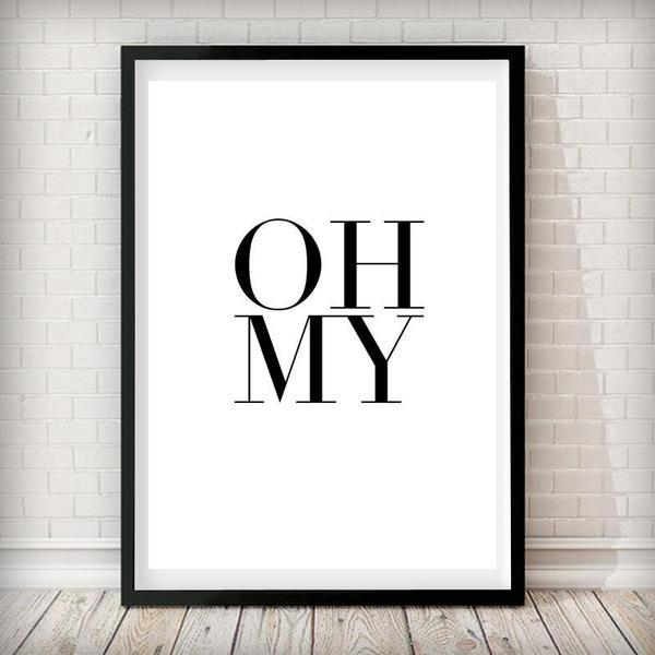 OH MY - Typography Art Print - Rock Salt Prints Ltd