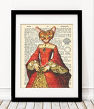 Old Dictionary Collection - Cat Animal Art Print - Rock Salt Prints Ltd
